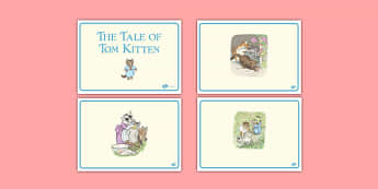 Beatrix Potter - The Tale of Tom Kitten Short Story Sequencing - beatrix potter, tom kitten