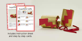 Superhero Cuffs Craft Instructions - superhero, craft, instructions
