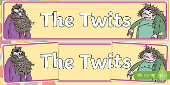 Display Banner to Support Teaching on The Twits - display, banner, the twits, roald dahl
