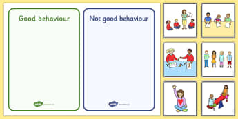 Classroom Behaviour Sorting and Discussion Cards - classroom behaviour, sorting, discussion, cards