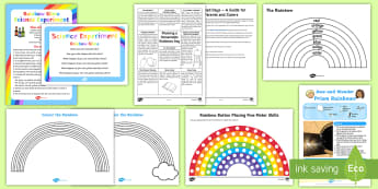 Rainbow Day Activity Pack - days in, holidays, parents, family, weather, science