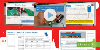 Materials Components and Ingredients Lesson 2: LED Christmas Tree Lesson Pack - Electronics, Rapidonline, Systems & Control, Design Engineering, PCB, LED, Circuits, Manufacturing,