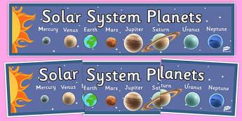 Solar System Planet Display Banner - solar system, planet, display banner, display, banner, solar, system