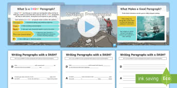 Writing Paragraphs with a DASH?: Creating Tension, Suspense and Atmosphere in Adventure Paragraphs Resource Pack - DADWAVERS, literacy shed, paragraphs, openers, setting, exploration, descriptive, journey