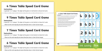 4, 6, 7, 9 Times Table Speed Game Activity - 4, 6, 7, 9 Times Table Speed Game Activity - 4 times table, times table, speed game, game, activity,