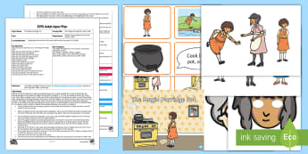 EYFS The Magic Porridge Pot Story Walk Adult Input Plan and Resource Pack - The Magic Porridge Pot, Early Years Planning, EYFS, Adult Led, Planning, Literacy, Traditional Tales