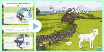 Im Frühling PowerPoint - Frühling, Spring, DAF, DAZ, Jahreszeiten,German