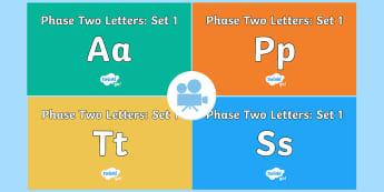 Phase 2 Phonemes : Set 1 'satp' Video Pack - Phonics videos, phase 2, set 1, satp, phonics screening, Twinkl Go, twinkl go, TwinklGo, twinklgo