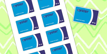 Train Station Role Play Oyster Card - transport, roleplay, props