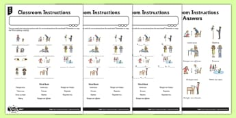 French Classroom Instructions Activity Sheet - french, activity, worksheet