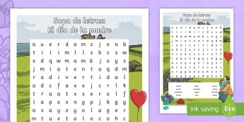 Mother's Day Word Search - Spanish, KS2, vocabulary, word, search, mother's, day, activity, sheet, worksheet
