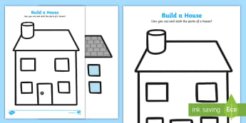 Build a House Cut and Stick Activity Sheet - Build a House Cut and Stick Activity Sheet - Estate Agents,  house, properties, apartment, bungalow,