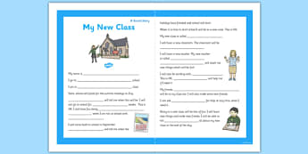 My New Class Social Situation Primary - new class, social story