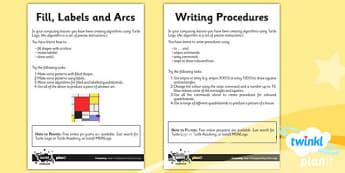 Computing: Programming Turtle Logo Year 4 Unit Home Learning Tasks