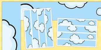 Proud Cloud Display Pack Cloud Display Borders - proud cloud, display