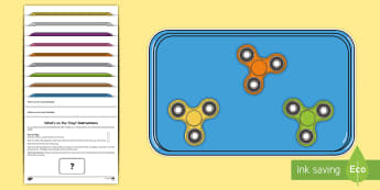 What's on the Tray? Fidget Spinner Colours Memory Activity Pack - Fidget Spinner, Visual Stimulus, Visual Memory, Auditory Processing Disorder, Deafness, Memory Activ