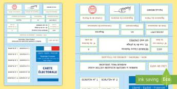 Fiche d'information : La carte électorale- Les élections présidentielles, cycle 2, cycle 3, presidential elections, France, carte électorale