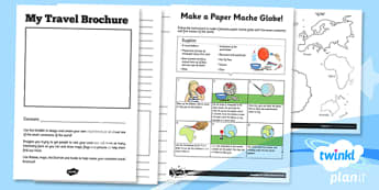 PlanIt - Geography KS1 - What a Wonderful World Unit Home Learning Tasks