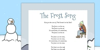 The Frost Song - the frost, song, frost, frost song, lyrics, eyfs, activity