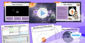 Science: Earth and Space: Movement of the Moon Year 5 Lesson Pack 6