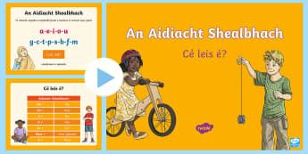 An Aidiacht Shealbhach PowerPoint Gaeilge - aidiacht, shealbhach, gramadach, possessive, adjective, gaeilge,Irish