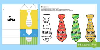 Ziua Tatălui - Felicitare cu cravată - ziua tatalui, ziua mamei, 8 martie, tata, mama, tați, materiale, material, felicitări, felictare,R