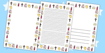 Baptism Portrait Page Borders - baptism, religion, RE, borders