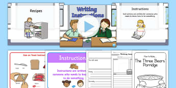 Writing Instructions Resource Pack  - instructions, writing, non-fiction,