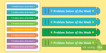 Problem Solver of the Week Wristband - ROI Numeracy - Problem Solving,Irish