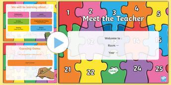 Meet the teacher PowerPoint - Back to School Australia, back to school, meet the teacher, teacher, teacher profile, teacher introd