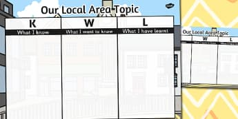 Our Local Area Topic KWL Grid - area, local, topic, kwl, grid