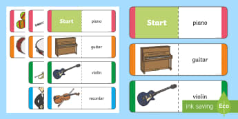 Musical Instruments Card Game - CfE Science, science week, Edinburgh Science Festival, Glasgow Science Festival, Scottish Science Fe
