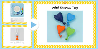 Mini Stress Toy Craft Instructions PowerPoint - EYFS, KS1, craft, feelings and emotions