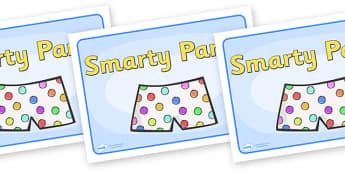 Group Signs (Smarty Pants) - smarty pants, group signs, group labels, group table signs, table sign, teaching groups, class group, class groups, table label