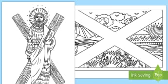 Saint Andrew's Day Mindfulness Colouring Pages-Scottish