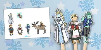 The Snow Queen Stick Puppets - activity, activities, crafts