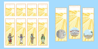 The Conversion of Saul Editable Bookmarks - usa, america, bookmark, activity, conversion, saul, bible stories, road to damascus