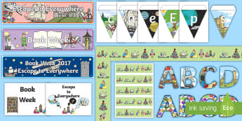 5-6 Book Week 2017 Display Pack - 5-6 Book Week 2017 Display Pack, 5-6, english, book week 2017, escape to everywhere,Australia