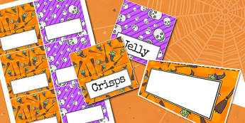 Halloween Party Food Labels - parties, celebrations, festivals