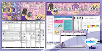 PlanIt Computing Year 1 Using and Applying Unit Pack - ICT, IT,computer, text, image, save, print, edit, paint, skills, type, Y1