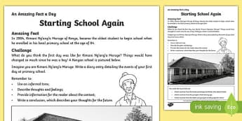 Starting School Again Activity Sheet, worksheet
