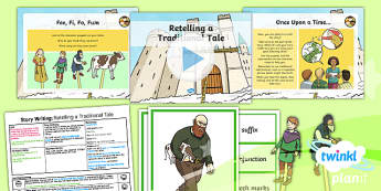 Plants: Jack and the Beanstalk: Story Writing 1 Y1 Lesson Pack  - Traditional stories, life processes, living things, explanation texts, seed
