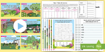Year 1 Term 1A Bumper Spelling Pack - word lists, spelling lists, y1, spag, gps, spelling list packs
