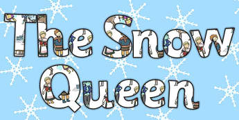 The Snow Queen Display Lettering - display, letters, snow queen