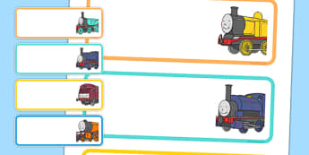 Talking Steam Train Themed Editable Drawer Peg Name Labels - thomas the tank engine, talking steam train, drawer, peg, name, labels, display