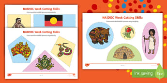 NAIDOC Week Cutting Skills Activity Sheet - EYLF, Australia, aboriginal, indigenous, early years, counting, numbers, kindergarten, pre-primary,