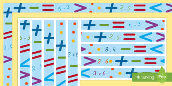 Mathematik Rahmen zum Ausdrucken für die Klassenraumgestaltungan - Rahmen, Mathematik, German