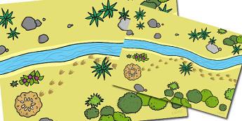 Aerial View Of Dinosaur Landscape Background - dinosaur landscape, aerial view, landscape aerial view, dinosaurs,, where dinosaurs lived, view of dinosaur landscape