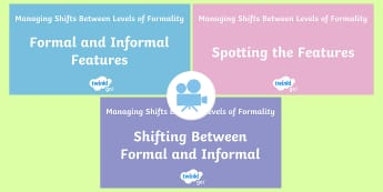 Managing Shifts Between Levels of Formality Video Pack - formality, formal, informal, year 6, y6, writing, greater depth, target, Twinkl Go, twinkl go, TwinklGo, twinklgo