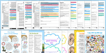 Phase 1 Aspect 6: Voice Sounds Adult Input Planning and Resource Pack - EYFS, sound effect, letters and sounds, phonics, lesson plan, adult led,